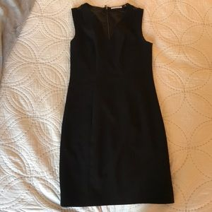 Tahari little black dress v neck